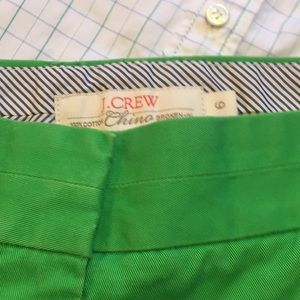 J.Crew Kelly green ☘️chino shorts